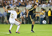 LOS ANGELES, CA – July 16, 2011: Jovan Kirovski (7) of the LA Galaxy during the match between LA Galaxy and Real Madrid at the Los Angeles Memorial Coliseum in Los Angeles, California. Final score Real Madrid 4, LA Galaxy 1.