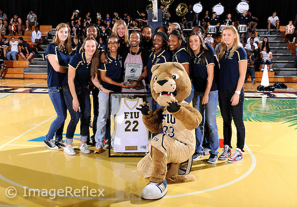 Florida International University retired the jersey number of  guard Jerica Coley (22) during half-time of the men's game against Florida Gulf Coast University.  FIU won the game 72-61 on December 7, 2013 at Miami, Florida.