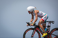 Mirinda Carfrae on the bike at the 2013 Ironman World Championship in Kailua-Kona, Hawaii on October 12, 2013.