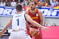 Spain Quino Colom and Slovenia Matic Rebec during FIBA European Qualifiers to World Cup 2019 between Spain and Slovenia at Coliseum Burgos in Madrid, Spain. November 26, 2017. (ALTERPHOTOS/Borja B.Hojas) /NortePhoto NORTEPHOTOMEXICO