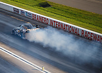 Aug 20, 2016; Brainerd, MN, USA; NHRA top alcohol funny car driver Jonnie Lindberg during qualifying for the Lucas Oil Nationals at Brainerd International Raceway. Mandatory Credit: Mark J. Rebilas-USA TODAY Sports