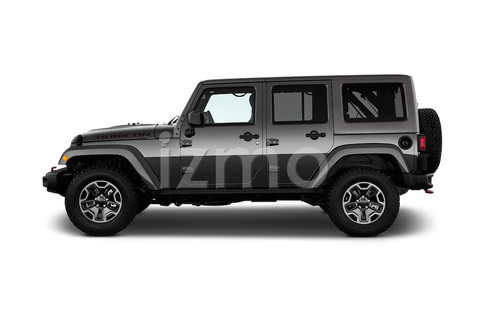 Car Driver side profile view of a 2017 JEEP Wrangler-Unlimited Rubicon-Hard-Rock 5 Door SUV Side View
