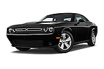Stock pictures of low aggressive front three quarter view of 2018 Dodge Challenger SXT 2 Door Coupe Low Aggressive