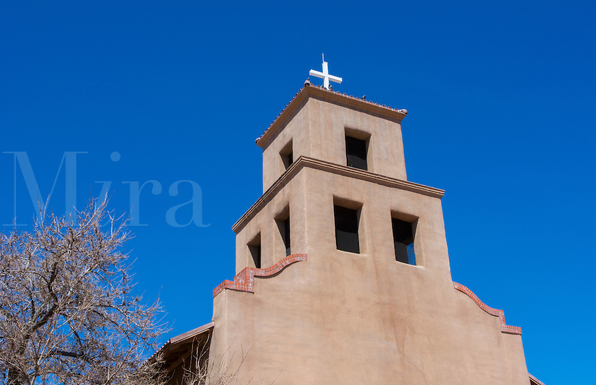 Santa Fe New Mexico Santuario de Guaoajupe  the Extant Shrine to OUr Lady of Guadalupe in USA