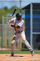 GCL Marlins center fielder Thomas Jones (33) at bat during a game against the GCL Mets on August 12, 2016 at St. Lucie Sports Complex in St. Lucie, Florida.  GCL Marlins defeated GCL Mets 8-1.  (Mike Janes/Four Seam Images)