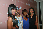 Kelly Rowland, Big Sean, Estelle and Michelle Williams attend Moët & Chandon and Kelly Rowland debut the Rosé Lounge with an exclusive celebration for Kelly Rowland's new album Here I Am at The Standard Hotel, NY 7/26/11