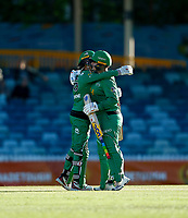 2nd November 2019; Western Australia Cricket Association Ground, Perth, Western Australia, Australia; Womens Big Bash League Cricket, Perth Scorchers versus Melbourne Stars; Lizelle Lee is congratulated by Erin Osborne of the Melbourne Stars after Lee scored a hundred - Editorial Use
