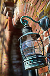 Antique lantern at the farmhouse at the Spencer-Peirce-Little Farm, Newbury, Essex National Heritage Area, Newburyport, Massachusetts, USA