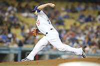 05/31/12 Los Angeles, CA: Los Angeles Dodgers relief pitcher Scott Elbert #57 during an MLB game between the Milwaukee Brewers and the Los Angeles Dodgers played at Dodger Stadium. The Brewers defeated the Dodgers 6-2.