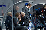 Nederland, Zwolle, 11 november  2012.Eredivisie.Seizoen 2012-2013.PEC-Zwolle-Ajax.Art Langeler, trainer-coach van PEC Zwolle baalt na de nederlaag tegen Ajax