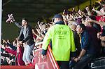 Hearts fans celebrating