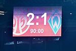 04.11.2018, Opel-Arena, Mainz, GER, 1 FBL, 1. FSV Mainz 05 vs SV Werder Bremen, <br /> <br /> DFL REGULATIONS PROHIBIT ANY USE OF PHOTOGRAPHS AS IMAGE SEQUENCES AND/OR QUASI-VIDEO.<br /> <br /> im Bild: Endstand / Endergebnis / Anzeigetafel / Feature<br /> <br /> Foto © nordphoto / Fabisch