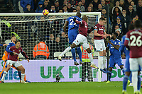 Issa Diop Of West Ham United heads wide during West Ham United vs Cardiff City, Premier League Football at The London Stadium on 4th December 2018