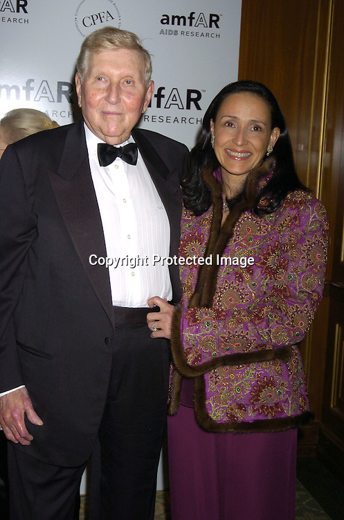Sumner and Paula Redstone ..at The Annual amFar Benefit on November 30, 2004 at ..The Pierre Hotel in New York City. Patti LaBelle, Sumner Redstone and Peter Dolan were honored. ..Photo by Robin Platzer, Twin Images