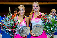 Alphen aan den Rijn, Netherlands, December 21, 2019, TV Nieuwe Sloot,  NK Tennis, Final woman's doubles: winners Sem Wensveen (NED) and  Dominique Karregat (NED) (L) with the trophy	<br /> Photo: www.tennisimages.com/Henk Koster