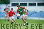 In Action M. Kerry's Aidan Cox  and E.Kerry's Dean Fitzgerald   Acorn Life Under 21 Football Championship seemi Finals East Kerry V Mid Kerry in Austin Stack Park on Thursday