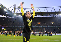 Fussball 1. Bundesliga :  Saison   2010/2011   32. Spieltag  21.04.2012 Borussia Dortmund - Borussia Moenchengladbach Jubel nach dem SIEG zur Deutschen Meisterschaft Mario Goetze (Borussia Dortmund)