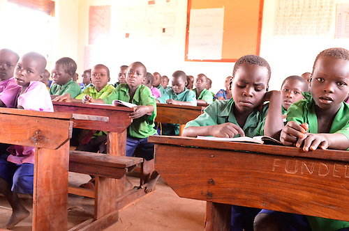 A new public school in Northern Uganda funded by  U.S. AID and Winrock International's $30 million NUDEIL project to help revitalize the impoverished, war-torn region.