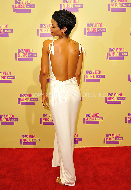 WWW.ACEPIXS.COM....September 6, 2012, Los Angeles, CA.......Rihanna arriving at the 2012 MTV Video Awards at the Staples Center on September 6, 2012 in Los Angeles, California. ..........By Line: Peter West/ACE Pictures....ACE Pictures, Inc..Tel: 646 769 0430..Email: info@acepixs.com