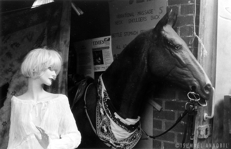 Manikin and Horse at Camden Market, now the entrance of Proud Gallery