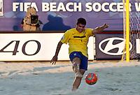 RAVENNA, ITALIA, 10 DE SETEMBRO 2011 - MUNDIAL BEACH SOCCER / BRASIL X PORTUGAL - Sidney jogador do Brasil, durante a partida contra Portugal , válida pela semi-final do Mundial de Futebol de Areiano Estádio Del Mare, em Ravenna, na Itália, neste sábado (10).FOTO: VANESSA CARVALHO - NEWS FREE