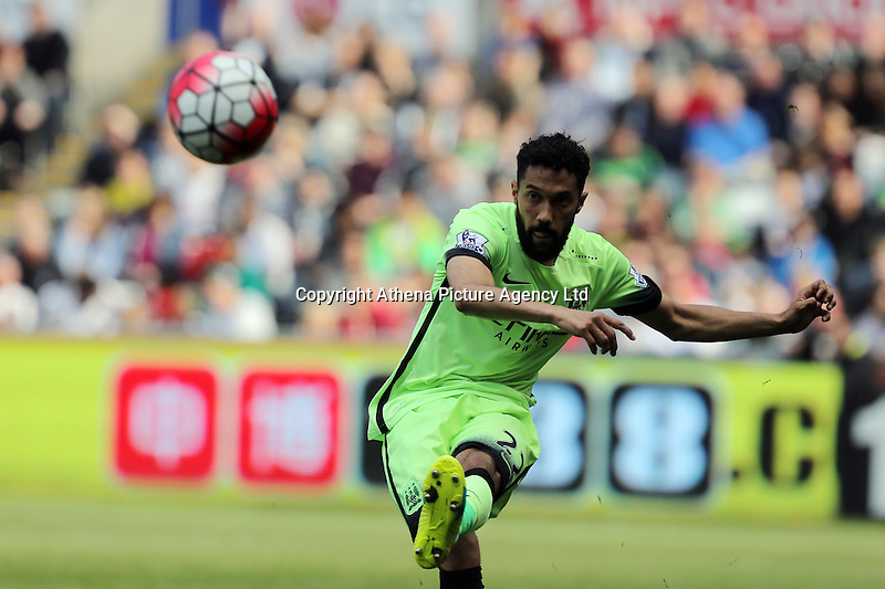 Gael Clichy of Manchester City during the Swansea City FC v Manchester City Premier League game at the Liberty Stadium, Swansea, Wales, UK, Sunday 15 May 2016