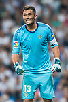 Goalkeeper Antonio Adan of Real Betis reacts during the La Liga 2017-18 match between Real Madrid and Real Betis at Estadio Santiago Bernabeu on 20 September 2017 in Madrid, Spain. Photo by Diego Gonzalez / Power Sport Images
