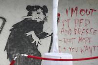 banksy rat  art miami fair during art basel