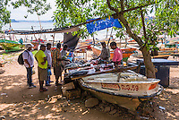 Fish market, Old Town of Galle, a UNESCO World Heritage Site on the South Coast of Sri Lanka, Asia. This is a photo of the fish market in the Old Town of Galle in Sri Lanka, Asia.