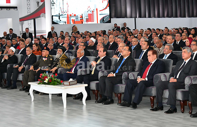 Egyptian President Abdel Fattah Sisi attends the Watan story conference, in Cairo, Egypt, on January 17, 2018. Photo by Egyptian President Office
