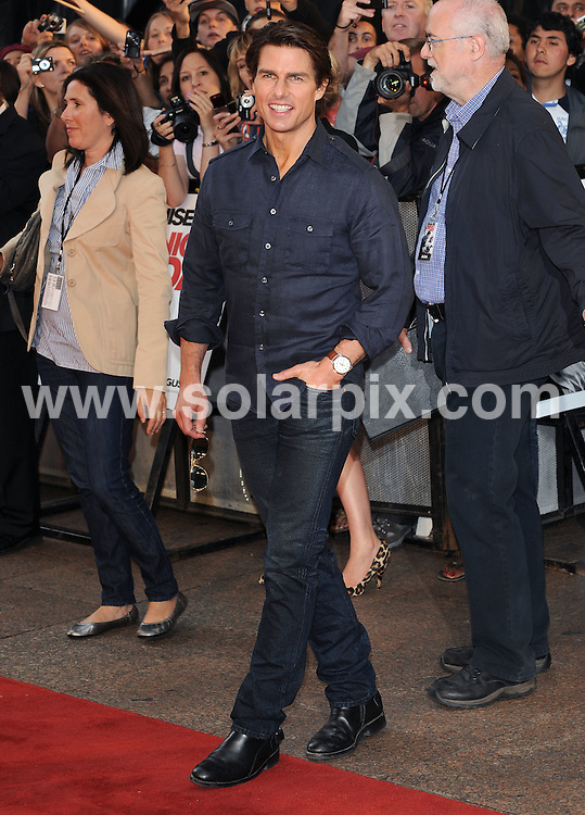 **ALL ROUND PICTURES FROM SOLARPIX.COM**.**WORLDWIDE SYNDICATION RIGHTS**.UK Premiere of Knight and Day. Held at the Odeon, Leicester Square, London, UK. 22 July 2010..This pic: Tom Cruise..JOB REF: 11740 SSD     DATE: 22_07_2010.**MUST CREDIT SOLARPIX.COM OR DOUBLE FEE WILL BE CHARGED**.**MUST NOTIFY SOLARPIX OF ONLINE USAGE**.**CALL US ON: +34 952 811 768 or LOW RATE FROM UK 0844 617 7637**