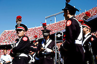 Members of the Ohio State Marching Band wait to take the field for halftime during a NCAA college football game between the Ohio State Buckeyes and the Maryland Terrapins on Saturday, October 10, 2015 at Ohio Stadium in Columbus, Ohio. (Joshua A. Bickel/The Columbus Dispatch)