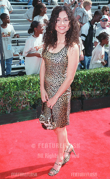 "12JUN99: Actress MINNIE DRIVER at the world premiere in Hollywood of Disney's latest animated movie ""Tarzan"". Driver plays the voice of ""Jane"" in the movie..© Paul Smith/Featureflash"