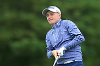 Ronan Mullarney (Galway) on the 1st tee during the Final of the Barton Shield in the AIG Cups & Shields Connacht Finals 2019 in Westport Golf Club, Westport, Co. Mayo on Saturday 10th August 2019.<br /> <br /> Picture:  Thos Caffrey / www.golffile.ie<br /> <br /> All photos usage must carry mandatory copyright credit (© Golffile | Thos Caffrey)