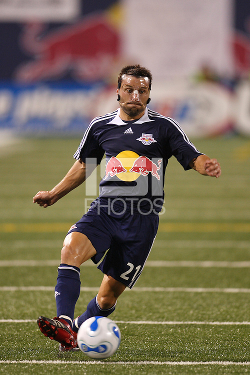 New York Red Bulls midfielder (21) Dema Kovalenko. The New York Red Bulls and the New England Revolution played to a 2-2 tie in an MLS regular season match at Giants Stadium in East Rutherford, NJ, on September 22, 2007.