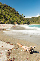 Women at Smoothwater Bay near Jackson Bay, South Westland, West Coast, World Heritage Area, South Island, New Zealand