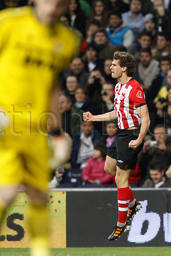 22.01.2012. Madrid Spain. La Liga  The match played between  Real Madrid and Athletic Club de Bilbao (4-1)  played at the Santiago Bernabeu Stadium.  Picture show Fernando Llorente Torres (Spanish forward of Athletic)