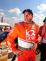 Oct 4, 2008; Talladega, AL, USA; NASCAR Sprint Cup Series driver Tony Raines during qualifying for the Amp Energy 500 at the Talladega Superspeedway. Mandatory Credit: Mark J. Rebilas-