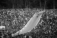 massive crowd cheering in &quot;The Pit&quot;<br /> <br /> GP Zonhoven 2014