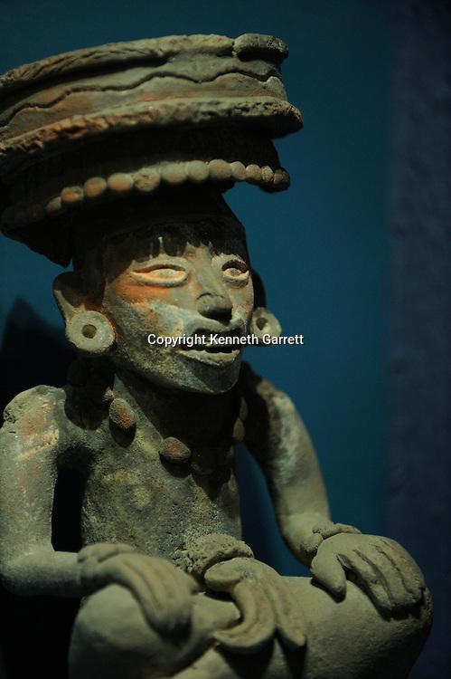 Mexico; Oaxaca; Monte Alban, Pre-colonial, Zapotec, figure.