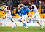 St Johnstone v Inverness Caley Thistle...02.05.15   SPFL<br /> Michael O'Halloran gets between Graeme Shinnie and Gary Warren<br /> Picture by Graeme Hart.<br /> Copyright Perthshire Picture Agency<br /> Tel: 01738 623350  Mobile: 07990 594431
