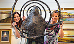 The  Blasket Island exhibition by artist Vincent Crotty<br /> and sculptor Hans Blank was opened at The Greenlane Gallery Dingle on Saturday by Tom Parlon. Pictured with Celtic Spiral are Cathy Cronin, Ballincollig and Gallery owner Susan Callery.<br /> The exhibition of new paintings and sculpture <br /> showcases the work of two artists, painter Vincent Crotty and sculptor, Hans Blank who have long been committed to preserving the essence of the Island on canvas and in bronze, from its flora and fauna to the working lives of its former inhabitants.<br /> Picture: Eamonn Keogh (MacMonagle, Killarney)