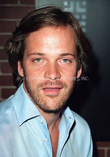 """Actor Peter Sarsgaard (will be featured in the upcoming film """"K-19: The Widowmaker"""") arriving at the party celebration of the first anniversary of his club Man Ray. New York, July 10, 2002. Please byline: Alecsey Boldeskul/NY Photo Press.   ..*PAY-PER-USE*      ....NY Photo Press:  ..phone (646) 267-6913;   ..e-mail: info@nyphotopress.com"""