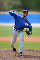 Toronto Blue Jays pitcher Jimmy Cordero (75) during a minor league spring training game against the New York Yankees on March 16, 2014 at Englebert Minor League Complex in Dunedin, Florida.  (Mike Janes/Four Seam Images)
