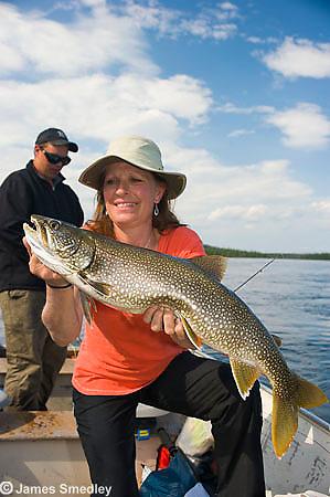 Fishing summer lake trout