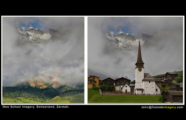 Switzerland, Zermatt.  New School Imagery<br />