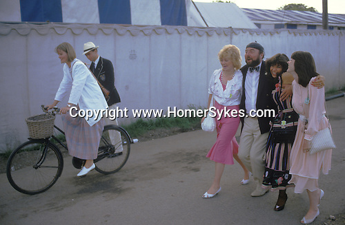 Henley Regatta. Oxfordshire England.  The English Season published by Pavilon Books 1987. &quot;All pals together at the pavilion of pleasure.&quot;<br />