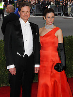 "NEW YORK CITY, NY, USA - MAY 05: Colin Firth, Livia Giuggioli at the ""Charles James: Beyond Fashion"" Costume Institute Gala held at the Metropolitan Museum of Art on May 5, 2014 in New York City, New York, United States. (Photo by Xavier Collin/Celebrity Monitor)"