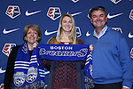 15 January 2016: Christen Westphal, with her parents, was taken with the #3 overall pick by the Boston Breakers. The 2016 NWSL College Draft was held at The Baltimore Convention Center in Baltimore, Maryland as part of the annual NSCAA Convention.