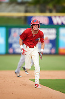 Clearwater Threshers center fielder Carlos Tocci (15) running the bases during a game against the Lakeland Flying Tigers on August 5, 2016 at Bright House Field in Clearwater, Florida.  Clearwater defeated Lakeland 3-2.  (Mike Janes/Four Seam Images)